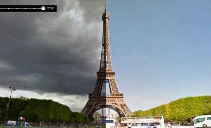 O tempo também passa no Google Street View